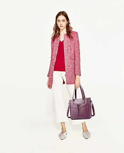 Women Bag Capacity Retro Fashion Shoulder Handbags Large Tisdaini Package Purple Diagonal New Tote Bag Fdfqx8wv