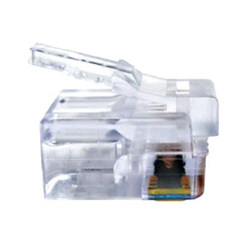 Platinum Tools 106128J RJ-12 (6P6C), Flat-Stranded. 100/Jar.(Pack of 100)