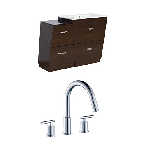 "hot sale 2017 Jade Bath JB-9231 40.5"" W x 18.5"" D Plywood-Melamine Vanity Set with 8"" o.c. CUPC Faucet, Wenge"