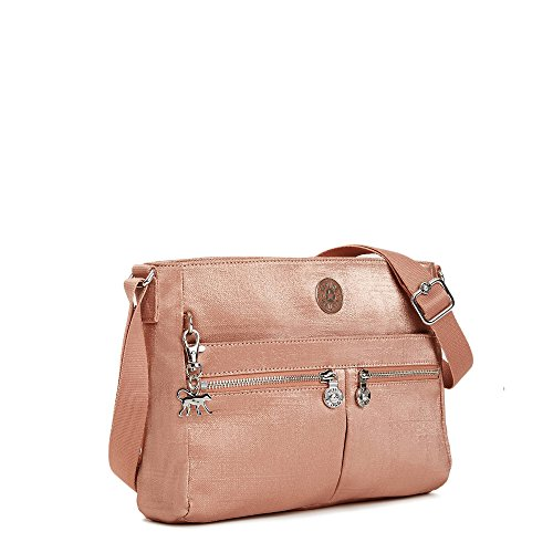 Convertible Angie Pink Crossbody Solid Metallic Lemonade Bag Kipling UnxBaqdZn