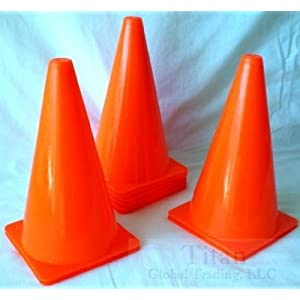 "60 New Orange 9"" Tall Field Sport Cones Football Soccer"