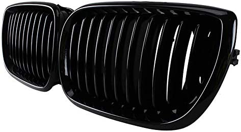 For BMW E46 Saloon Touring 2002-05 Facelift Pair Front Kidney Grille Matte Black