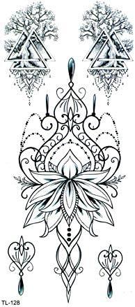 Lotus Corona Hombre Impermeable Tatuaje Temporal del Tatuaje del ...