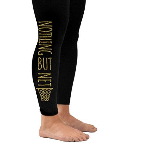 Gv Net (Nothing But Net Leggings   Basketball Leggings by ChalkTalk SPORTS   Adult Small   Gold)