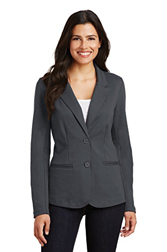 Port Authority Ladies Knit Blazer, Battleship Grey, XX-Large
