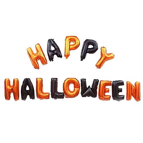 BRUIO Halloween Aluminum Balloon Set Happy Halloween Banner