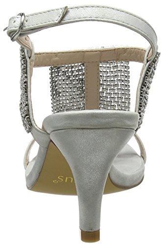 silver Punta Abierta Mujer Aspey Lotus diamante Plateado Slv XqZzx