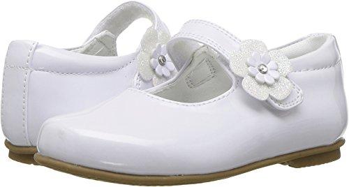 Patent Flat (Rachel Kids Baby Girl's LIL Dawn (Toddler/Little Kid) White Patent 6 M US Toddler)
