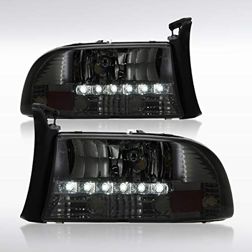Autozensation For Dodge Dakota/Durango Smoke Headlights w/SMD LED Lamps ()