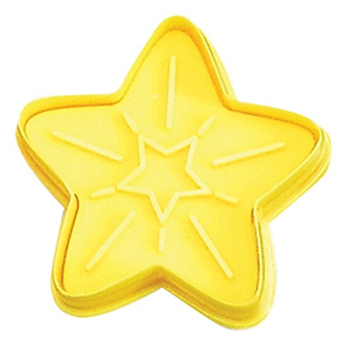 CybrTrayd RM-0406-3LOT R&M Star 2.75' Cookie Stamper (Set of 3), Yellow