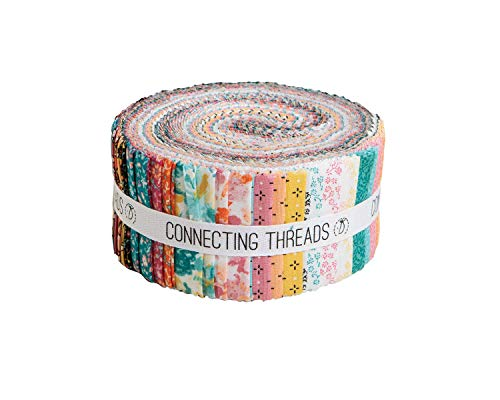 (Connecting Threads Print Collection Precut Quilting Fabric Bundle (Cascade Meadow - 2.5