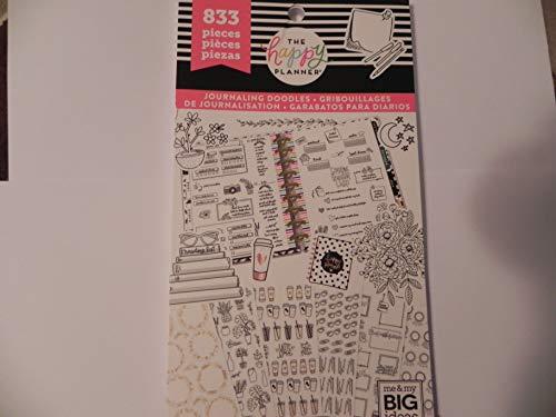 Create 365 Happy Planner Sticker Pack, Journaling Doodles, 833 - Journaling Sticker Book