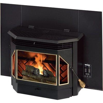 TimberRidge 55-TRPEPI Pellet Fireplace Insert, Matte Black