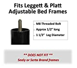 Steel Adjustable Bed Riser Legs, Set of 4