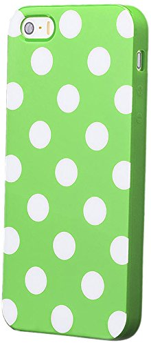 Silicone Polka Dot Case for iPhone 5/5S/SE (Green) - 3