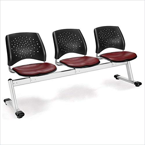 OFM 323-VAM-603 Stars 3-Unit Beam Seating with 3 Vinyl Seats