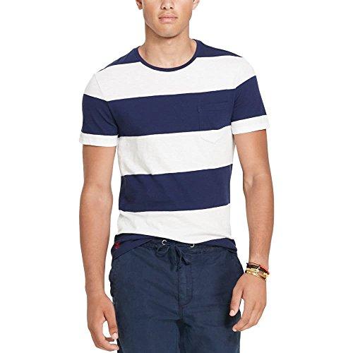 Polo Ralph Lauren Men's Striped Custom-Fit T-Shirt - Ralp Lauren Men