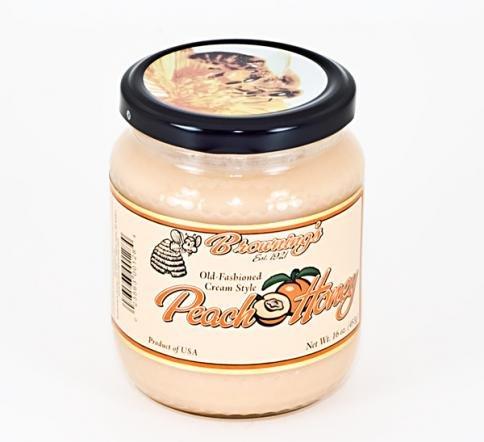 - 16oz Gift Jar Old-fashioned Creamed Style Peach Honey