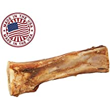 "Meaty Dog Bones - Bulk Beef Dog Dental Treats & Chews, Made in USA, American Made, Shin Femur Meat Bone (8-9"" Bone (1pk))"