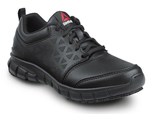 Reebok Women's Slip Resistant Soft Toe Low Athletic (6 M) Black