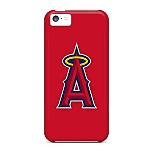 PhilHolmes Iphone 5c Bumper Hard Phone Cases Provide Private Custom Stylish Baseball Los Angeles Angels 2 Pattern [yxJ16530abud]