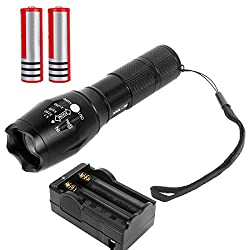 2000 LM Zoom Focus Zoomable CREE XM-L T6 LED Flashlight Torch 2 X18650 Charger by Yiteng