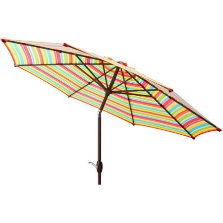 Mainstays 9' Market Umbrella, Multi-stripe - Mainstays Umbrella