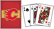 Frameworth Calgary Flames Playing Cards, Black, One Size