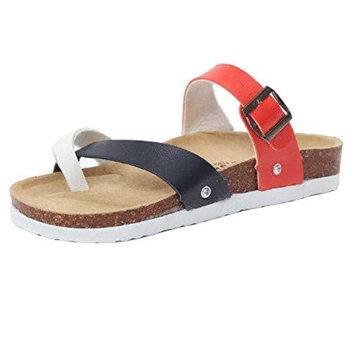 On Sandali Slip Donna Spiaggia Rosso Zanpa Casuale qHwB4RRX
