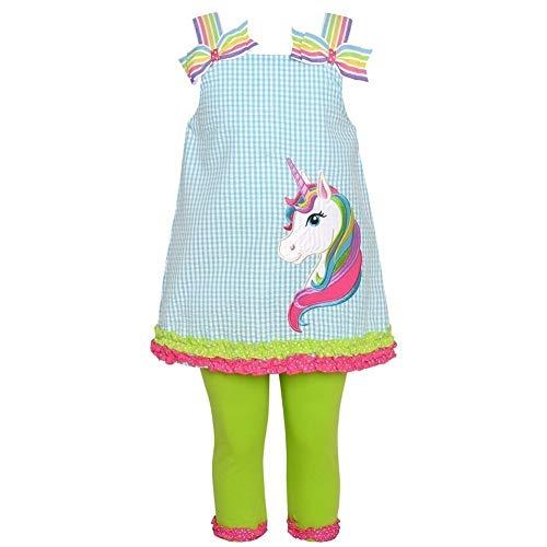 - Rare Editions Rainbow Unicorn Seersucker Capri Set (12m-24m) (12 Months)