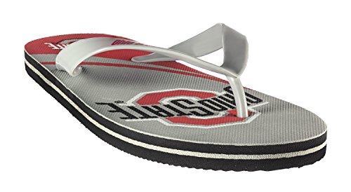 Ncaa Flip Flops (Forever Collectibles NCAA Team Logo Flip Flop Ohio State University Medium)