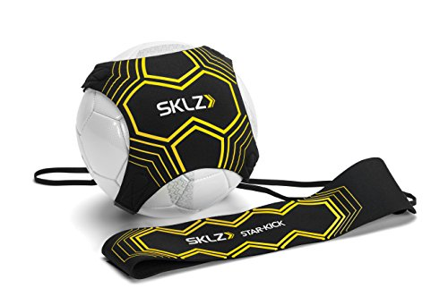 SKLZ Star-Kick Hands-Free Adjustable Solo Soccer Trainer - Fits Ball Sizes 3, 4, and 5 (Black) (Smart Soccer)