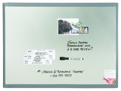 Quartet Stainless Steel Finish Magnetic Dry-Erase Board, 11 x 14 Inches, Graphite Gray Frame (MHOS1114) (11x14 Dry Erase)