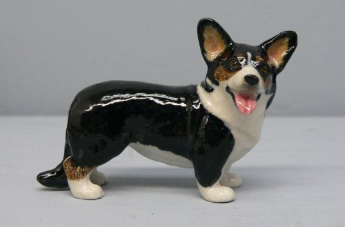 - WELSH CORGI Dog Tri CARDIGAN Porcelain MINIATURE NORTHERN ROSE R278B