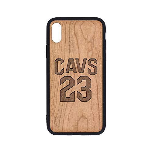 (NBA CC Cavs No.23 - iPhone Xs Case - Cherry Premium Slim & Lightweight Traveler Wooden Protective Phone Case - Unique, Stylish & Eco-Friendly - Designed for iPhone Xs )