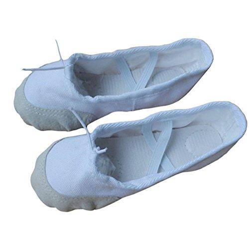 Voberry® Women Girls Canvas Practice Ballet Slippers Dancing Yoga Pointe Gymnastiekschoenen White