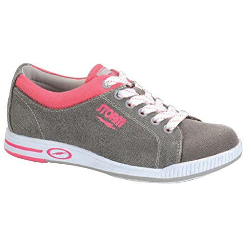 Storm Womens Meadow Bowling Shoes (6 1/2 M US, Grey/Pink) (Pink Ladies Bowling Bag)