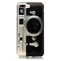 Sunvy iPhone 7 Case,Retro Camera [Drop Protection][Slim Fit] Soft Skin Silicone Protective Cover for 4.7inch iPhone 7 with a Screen Protector