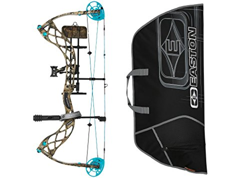 Cheap Diamond Carbon Knockout Compound Bow, Right Hand with Easton Soft Bow Case (Camo)