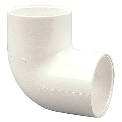 NIBCO 406 Series PVC Pipe Fitting, 90 Degree Elbow, Schedule 40, Slip