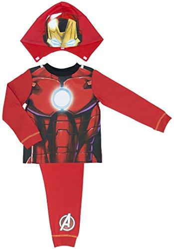 Marvel Avengers Assemble Iron Man Hooded Boys Pyjamas - 2- - 3-4 years / 104 - Clothing Ironman Uk
