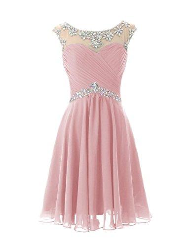 Damen Fanciest 2016 Kurz Crystal Prom Brautjungfernkleides Brautjungfernkleid Blush qPxPfdFrw
