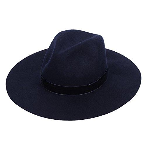 Cowgirl Costume Australia (Wool Fedora Hat Felt Panama Women's Crushable Fashion Style With Wide Brim Chic Band)