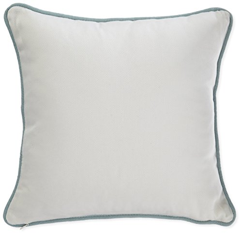 Harbor House Coastline Fashion Cotton Throw Pillow,Jacquard Square Decorative Pillow, 16X16, Ivory