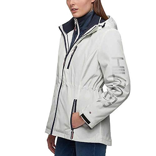 Tommy Hilfiger 3-in-1 Systems Jacket Women (White, Large) (Hilfiger Jacket Fashion Womens Tommy)