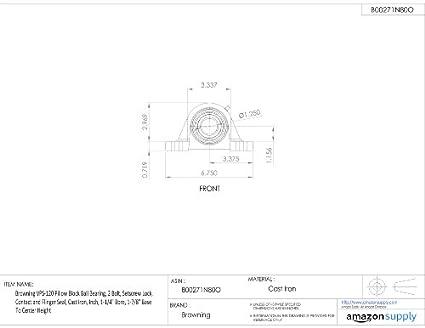 Browning Vps 120 Pillow Block Ball Bearing 2 Bolt Setscrew Lock