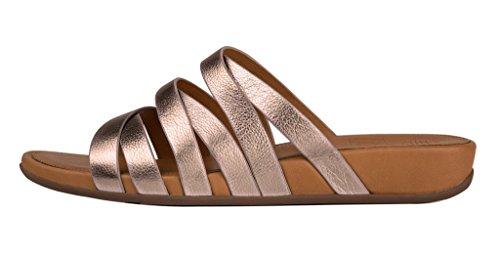 ba4f12388 FitFlop Womens Lumy Leather Criss-Cross Slide Bronze Sandal - 8 - Buy  Online in Oman.