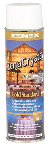 Zenex ZenaCrystal Gold Standard, Premium Glass and Surface Cleaner - 12 Cans - Glass Cleaner Case Cans 12