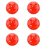 A&L Pickleball Balls, New Concept True Flight Design 26 Hole Pickleball Balls Set of 6, Soft for Game Room (6 Pack) (Orange, Soft for Game Room)