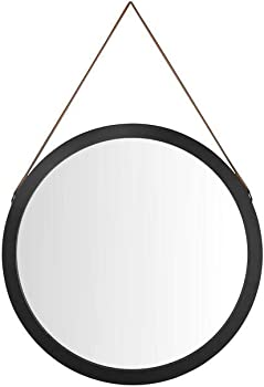 StyleWell Medium Round Black Classic Accent Mirror